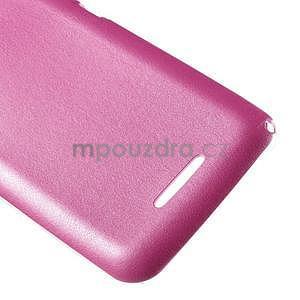 Gélový obal na Sony Xperia E4g s koženkovým chrbtom - ružový - 5