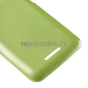 Gélový obal pre Sony Xperia E4g s koženkovým chrbtom - zelený - 5