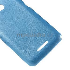 Gélový obal na Sony Xperia E4g s koženkovým chrbtom - modrý - 5