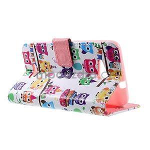 Peňaženkové puzdro na Sony Xperia E4g - sovičky - 5