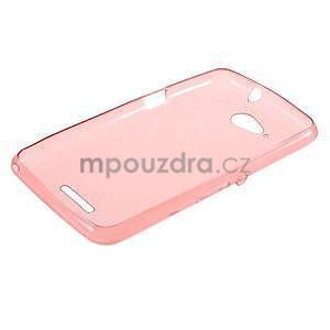 Ultra tenký gélový obal na Sony Xperia E4g -  červený - 5