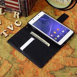 Standy Peňaženkové puzdro Sony Xperia M2 Aqua - US vlajka - 5