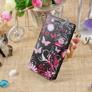 Standy peněženkové pouzdro Sony Xperia M2 Aqua - kouzelní motýlci - 5