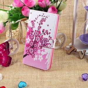 Standy Peňaženkové puzdro Sony Xperia M2 Aqua - kvitnúce vetvička - 5