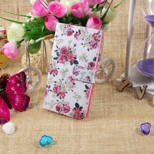 Standy peněženkové pouzdro Sony Xperia M2 Aqua - květiny - 5