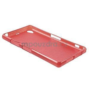 Broušený gelový obal na Sony Xperia Z2 - červený - 5