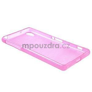 Brúsený gélový obal pre Sony Xperia Z2 - rose - 5