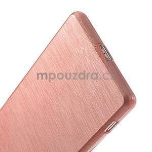 Brúsený gélový obal pre Sony Xperia Z2 - ružový - 5