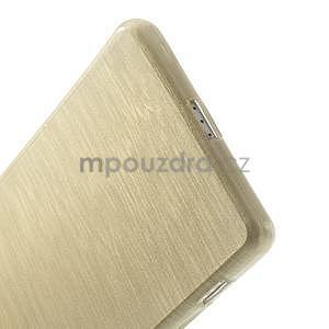 Brúsený gélový obal pre Sony Xperia Z2 - zlatý - 5