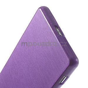 Brúsený gélový obal pre Sony Xperia Z2 - fialový - 5
