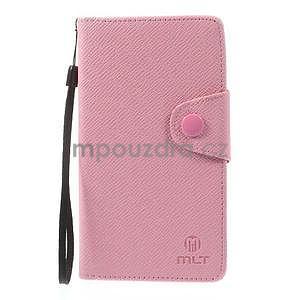 Ružové Peňaženkové puzdro pre Sony Xperia Z3 - 5