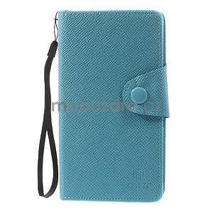 Tyrkysové peněženkové pouzdro na Sony Xperia Z3 - 5