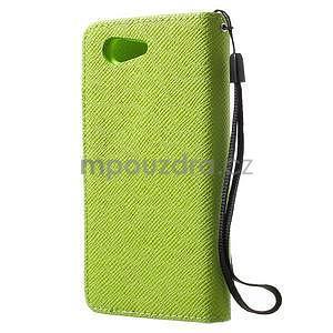 Zelené peněženkové pouzdro na Sony Xperia Z3 Compact - 5