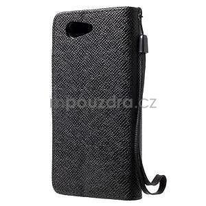 Černé peněženkové pouzdro na Sony Xperia Z3 Compact - 5