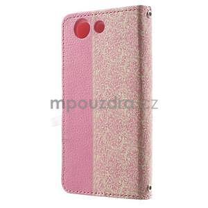 Zapínacie puzdro s mašličkou pre Sony Xperia Z3 Compact - ružové - 5