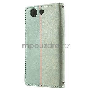 Zapínacie puzdro s mašličkou pre Sony Xperia Z3 Compact - azurové - 5