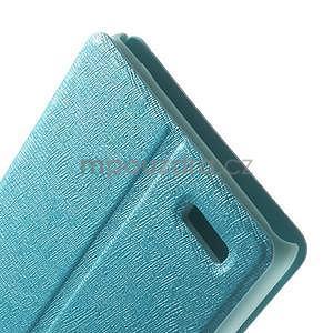 Kožené puzdro na Xiaomi Hongmi Note - světle modré - 5