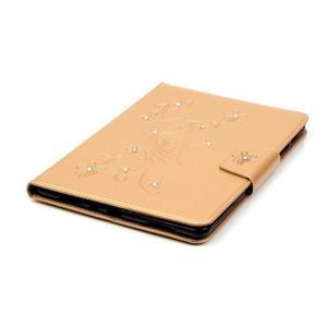 Butterfly PU kožené puzdro pre Samsung Galaxy Tab A 9.7 - zlaté - 5