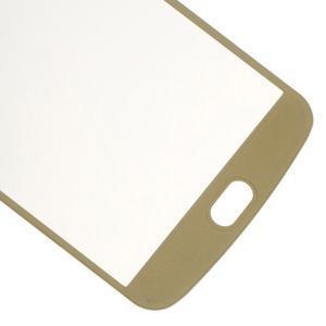 Celoplošné fixačné tvrdené sklo pre displej LG K10 - zlaté - 5
