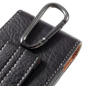 Cestovní PU kožené peňaženkové puzdro do rozmerov 150 x 73 x 15 mm - čierne - 5