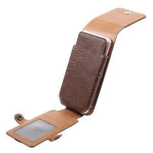 Cestovní PU kožené peňaženkové puzdro do rozmerov 150 x 73 x 15 mm - coffee - 5