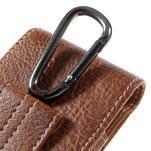 Cestovní PU kožené peněženkové pouzdro do rozměru 150 x 73 x 15 mm - hnědé - 5/7