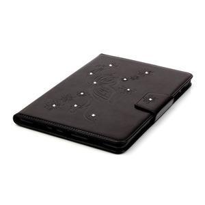 Butterfly PU kožené pouzdro na Samsung Galaxy Tab A 9.7 - černé - 5