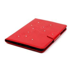 Butterfly PU kožené puzdro pre Samsung Galaxy Tab A 9.7 - červené - 5