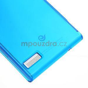 Gélové puzdro na Huawei Ascend P6 - modré - 5