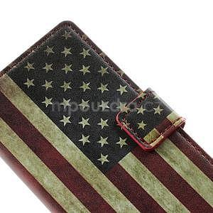 Peňaženkové puzdro na Huawei Ascend P6 - USA vlajka - 5