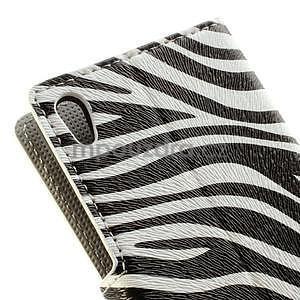 Peňaženkové puzdro na Huawei Ascend P6 - zebra - 5