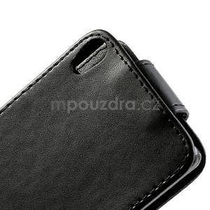 Flipové puzdro na Huawei Ascend P6 - čierné - 5
