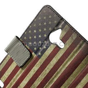 Peněženkévo puzdro na Huawei Ascend Y550 - USA vlajka - 5