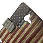 Peněženkévo puzdro na Huawei Ascend Y550 - USA vlajka - 5/7