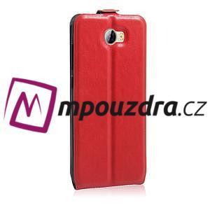 Flipové PU kožené puzdro na Huawei Y5 II - červené - 5