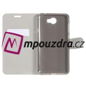 Horse PU kožené puzdro na mobil Huawei Y5 II - biele - 5