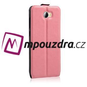 Flipové PU kožené puzdro na Huawei Y5 II - růžové - 5