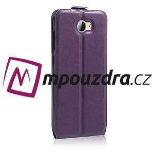 Flipové PU kožené puzdro na Huawei Y5 II - fialové - 5