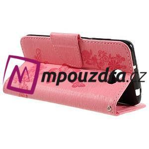 Butterfly PU kožené puzdro na mobil Huawei Y5 II - růžové - 5