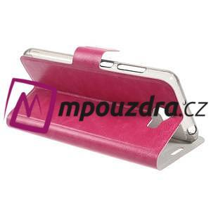 Horse PU kožené puzdro na mobil Huawei Y5 II - rose - 5