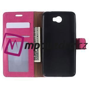 Clothy peněženkové puzdro na Huawei Y5 II - rose - 5