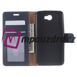 Clothy peněženkové puzdro na Huawei Y5 II - tmavěmodré - 5