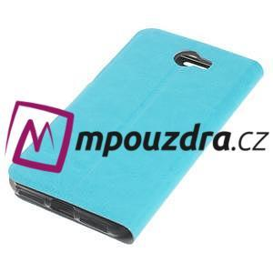 Horse PU kožené puzdro na mobil Huawei Y5 II - modré - 5