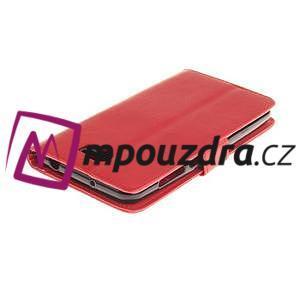 Dandelion PU kožené puzdro na Huawei Y5 II - červené - 5