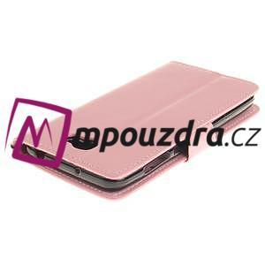 Dandelion PU kožené puzdro na Huawei Y5 II - růžové - 5
