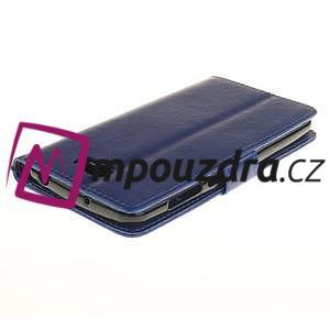 Dandelion PU kožené puzdro na Huawei Y5 II - modré - 5