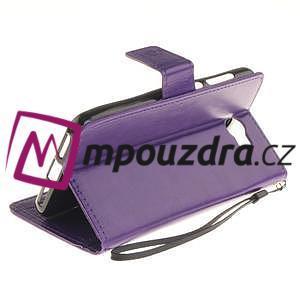 Dandelion PU kožené puzdro na Huawei Y5 II - fialové - 5