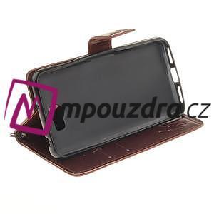 Dandelion PU kožené puzdro na Huawei Y5 II - hnědé - 5