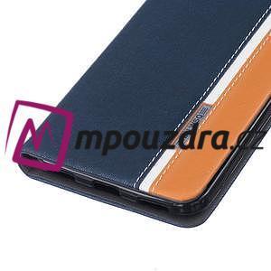 Klopové puzdro pre mobil Huawei Y6 II a Honor 5A - tmavomodré - 5