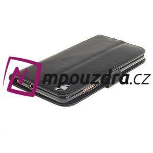 Dandelion PU kožené puzdro pre Huawei Y6 II a Honor 5A - čierné - 5
